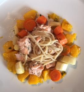 pasta and veg
